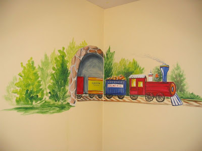 Train Themed Nursery Mural Ideas