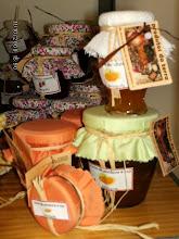 monodose de doce de ameixa, de melão laranja, chila......