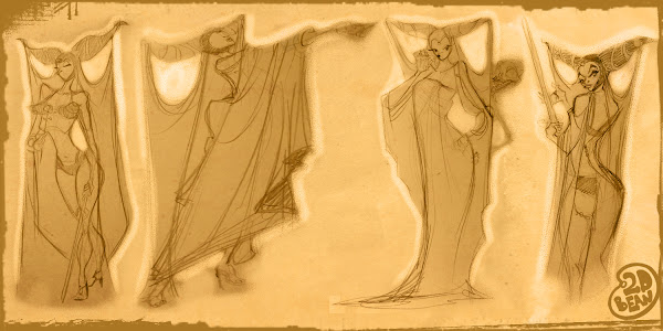 Evil Queen Concept Drawings
