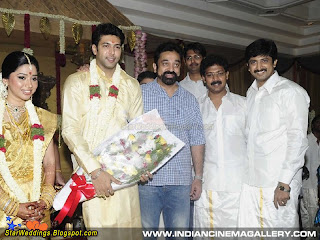 Tamil actor Kamal hasan  with the bridegroom
