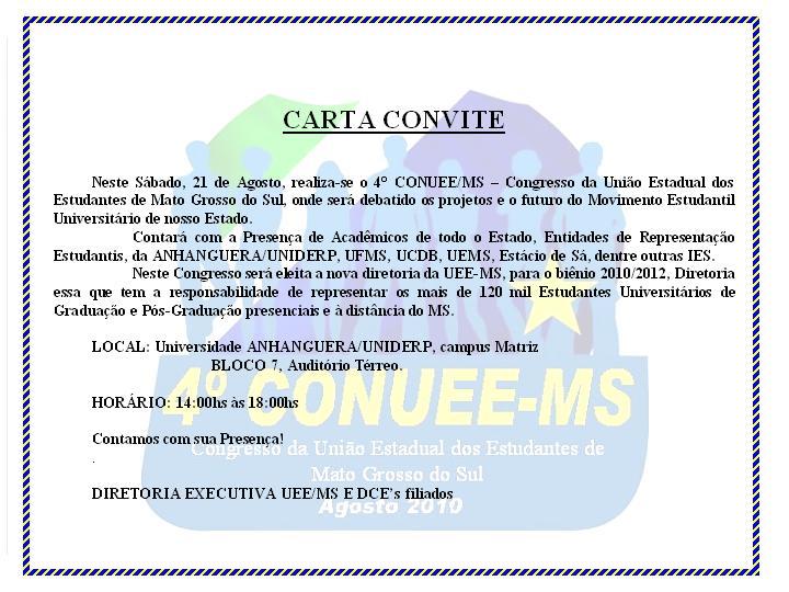 Modelo De Carta Convite Para Evento Evangelico MEJOR CONJUNTO DE