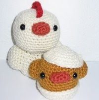 Amigurumi Hatching Easter Chicks : Free Amigurumi Patterns: Chicken and chick hatching from egg
