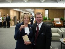 President and Sister Fry at the Missionary Training Center