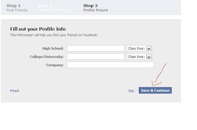 tahap 3 cara membuat facebook