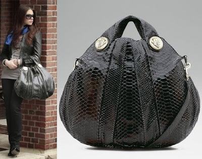 Gossip Girl Bag Style Мишель Трахтенберг Gucci Hysteria Python Bag Гучи Сумка из питона