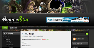 AnimeStar   Blogger Template