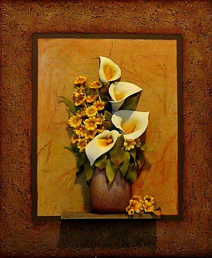 Cuadros en relieve flores en relieve for Imagenes de cuadros abstractos con relieve