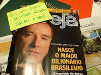 Capa da revista Veja com Eike Batista. Que bom seria se todos os empresários fossem iguais a ele...
