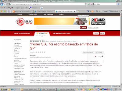 O Diário do Norte do Paraná fala sobre Poder S.A.