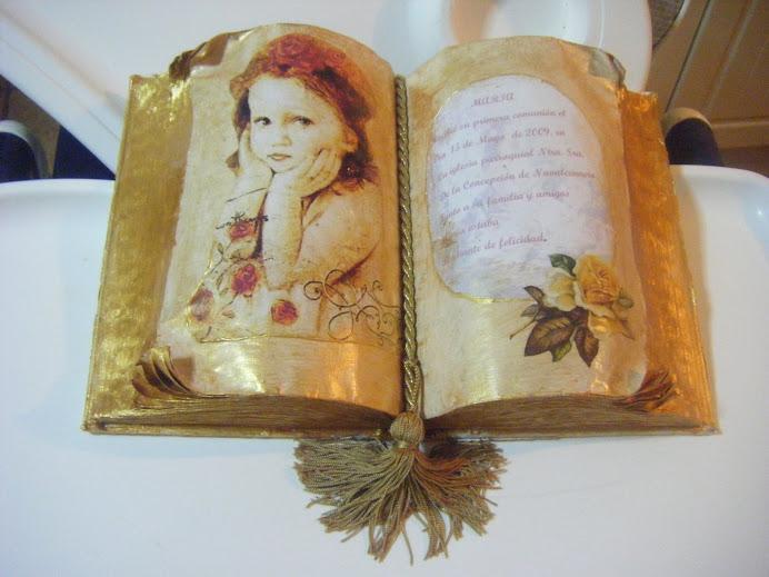 libro regalo  de comunion