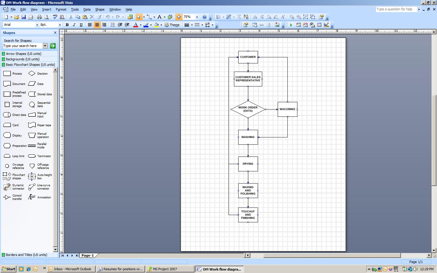 Project Flow Chart Template Excel Process Diagram