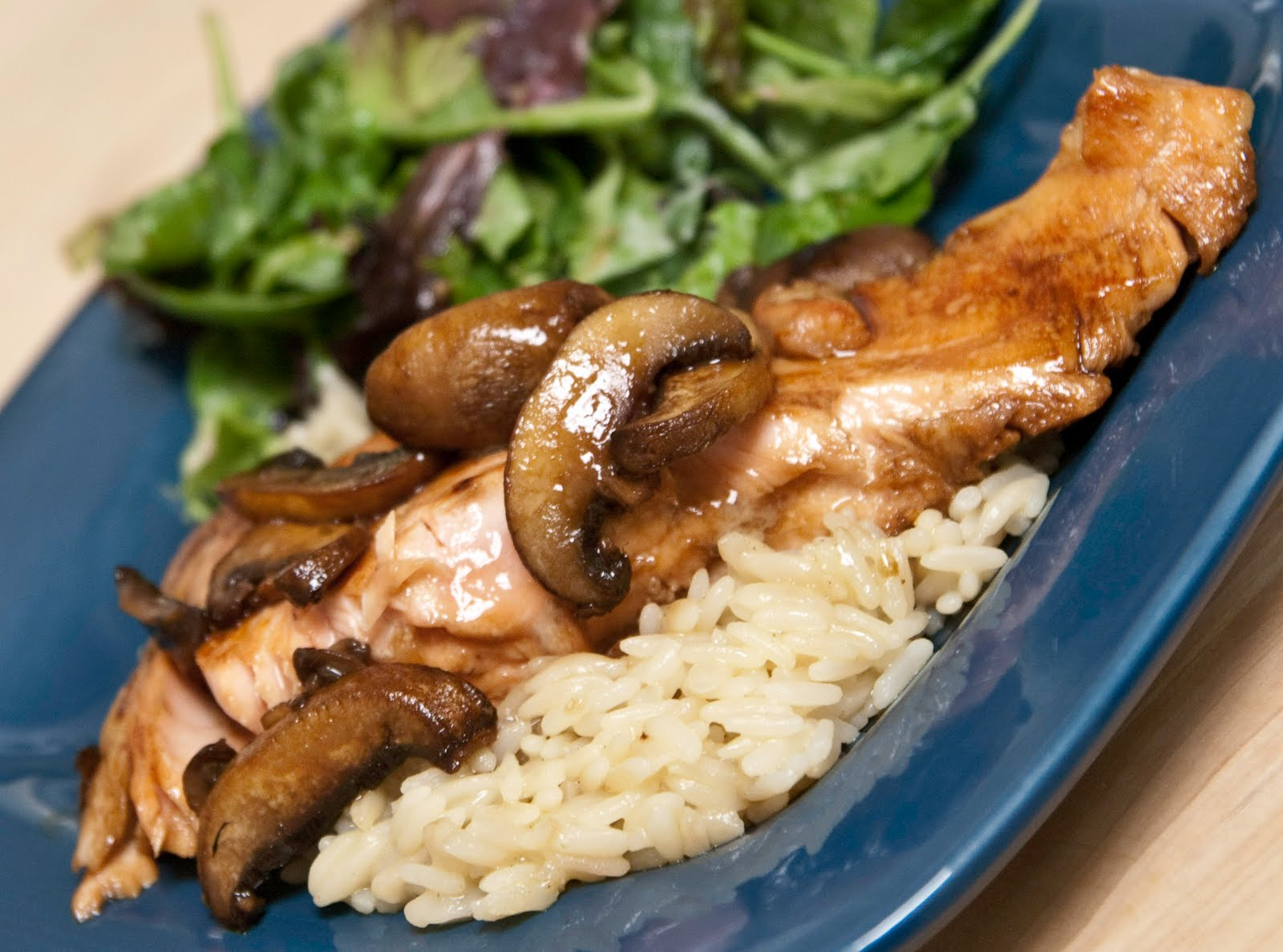 A Blog About Food: Teriyaki Salmon with Mushrooms