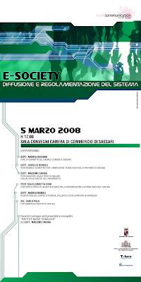 e-society sassari 5 marzo 2008