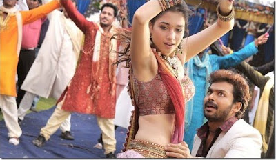 Karthi and Tamannah hot in Siruthai movie stills