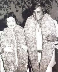 Rajinikanth and Latha Rajinikanth marriage photo