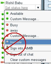 How to know if a person is at invisible mode on Gtalk/Gmail