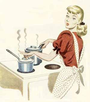 woman cooking cartoon
