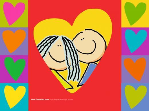 amor y amistad para colorear. el dia del amor y amistad,
