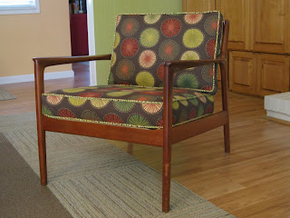 She Manufactures: Wingback Chair Re-Upholstery Project: Recovering