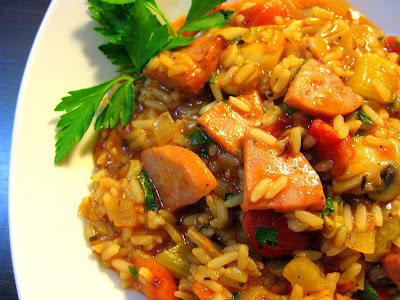 Food Tastes YummyTURKEY KIELBASA SPICY JAMBALAYA