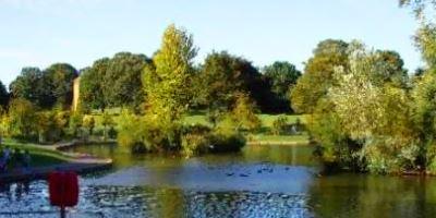 The Lake in Abington Park, Northampton, UK