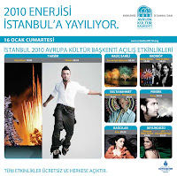 Tarkan on Istanbul2010's official site