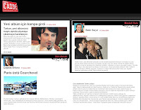 Tarkan reports in Milliyet's variety pages Cadde