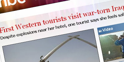 MSNBC Reports: First Western tourists visit war-torn Iraq