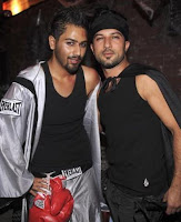 Avo Yermagyan and Tarkan attend Bacardi Hosts Halloween at The Abbey on October 31, 2008 in West Hollywood, California