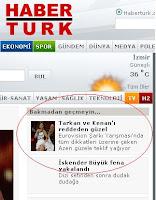 Screencap of Aysel refusal gossip headline