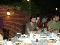 Emir at dinner with his boss Tarkan