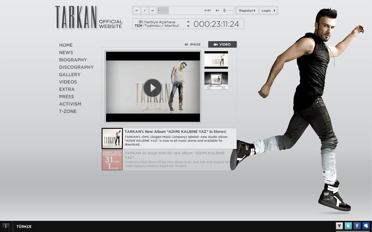 New look for Tarkan's official website