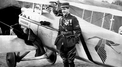 Georges Guynemer in front of his Spad fighter plane