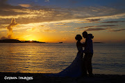 Sunset beach wedding on Trunk Bay (crown images photography st john wedding us virgin islands )
