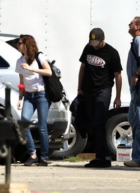 Robert y Kristen en Lusiana en el Set de Preparación de Breaking Dawn