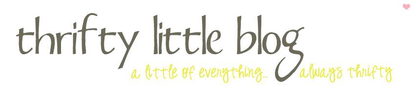 Thrifty Little Blog