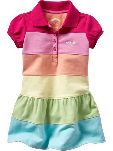 GAP RAINBOW DRESS..