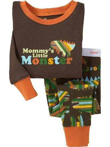 GAP PYJAMAS -MOMMY'S LITTLE MONSTER