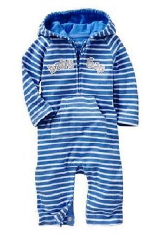 BABY GAP STRIPE HOODED JUMPER -BLUE