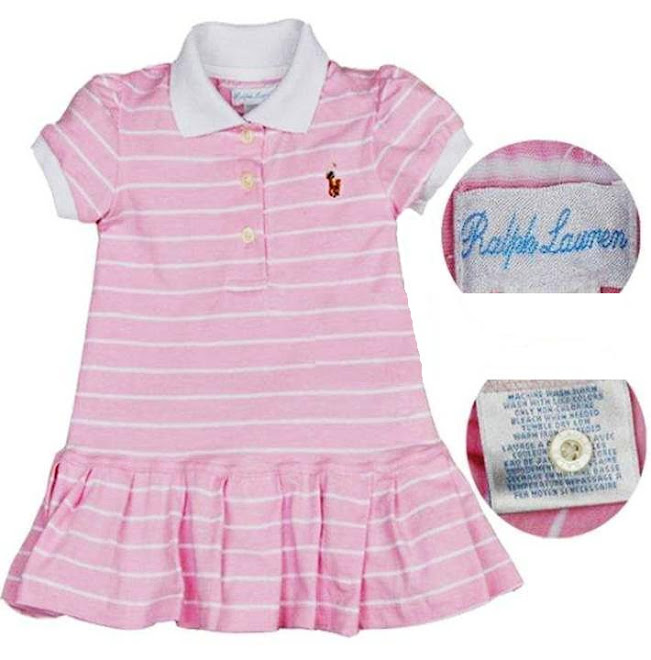 polo stripes babby dress