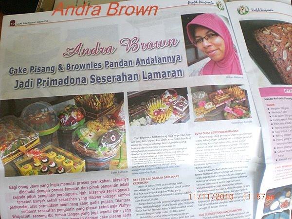Andra Brown diliput tentang : Cake Pisang,Brownies Kukus pandan Keju ...