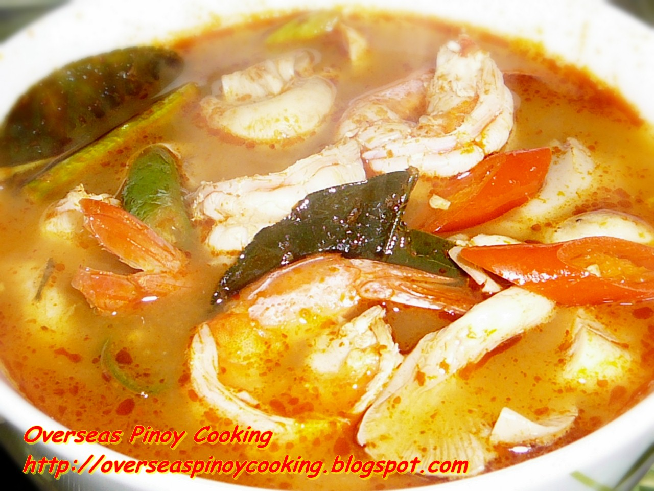 Tom Yum Goong, Hot and Sour Shrimp or Prawn Soup