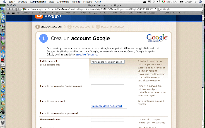 fase 1 - ACCOUNT G MAIL X blogger