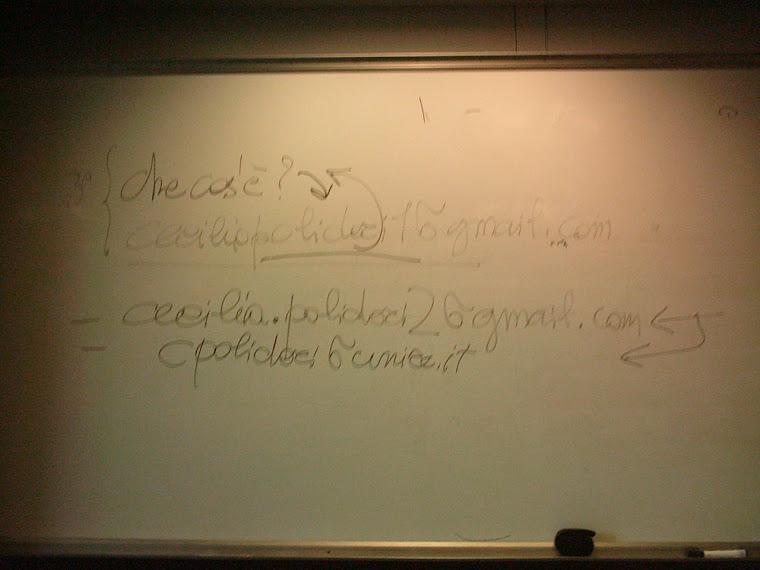 appunti dalla Lezione del 16 dicembre 2010