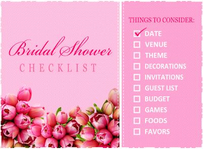 Bridal Shower Checklist   Unique Wedding Invitations By Sweetknottings Bridal Shower Checklist