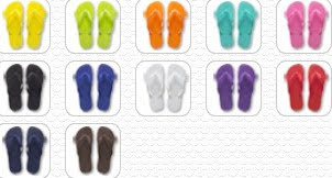 Colorful flip flops,