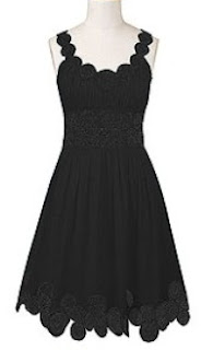 custom made little black dress,plus size dresses,scalloped sleeve dresses