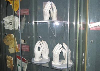 Astronaut hand molds