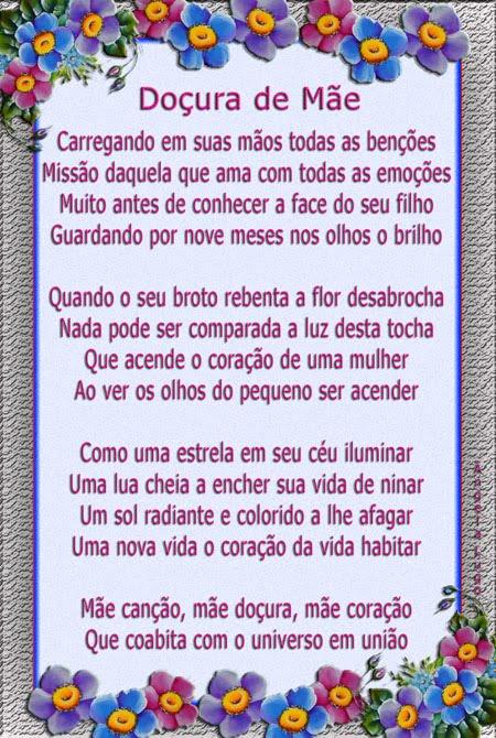 DOÇURA DE MÃE (Dia das Mães)