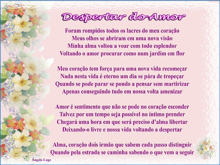 DESPERTAR DO AMOR